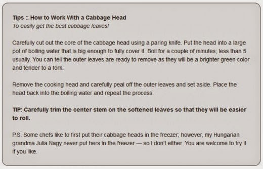 Tips How to Work With a Cabbage Head