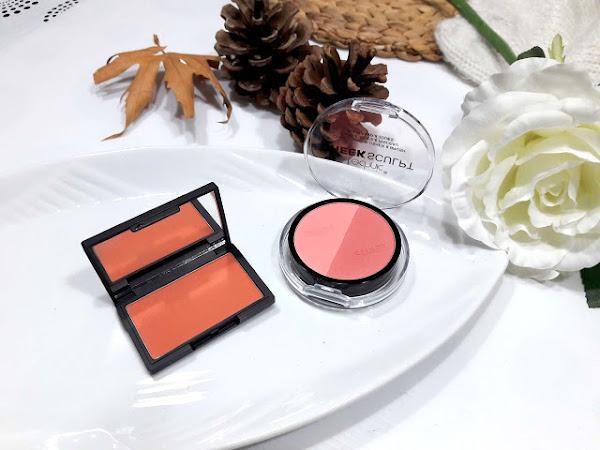 Two blushes - Sleek Coral Blush & Technic Cheek Sculpt in Peachy