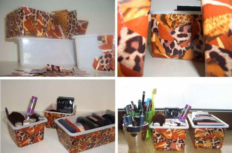 DIY Kosmetikaufbewahrung Upcycling