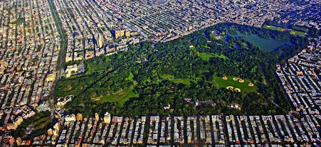 Prospect Park no Brooklyn em Nova York