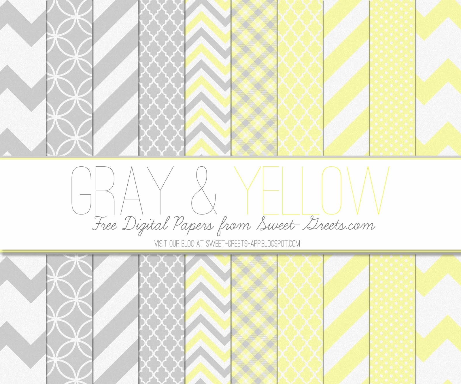 Just Peachy Designs: Free Digital Paper: Gray and Yellow