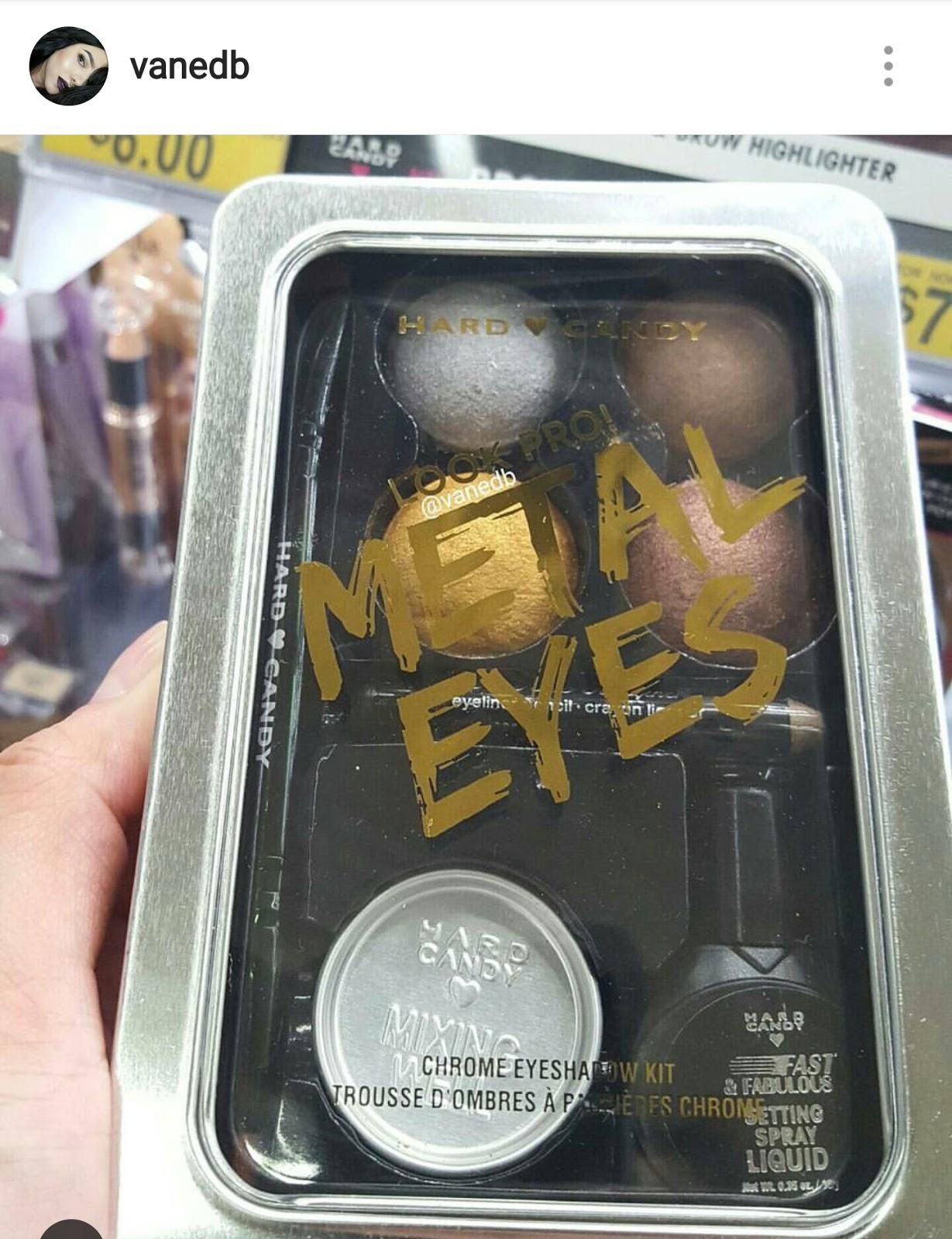 hard candy metal eyes chrome eyeshadow kit