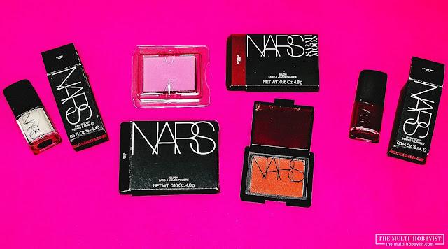 NARS Nail Polish, NARS Impudique Blush, NARS Desire Blush Refill