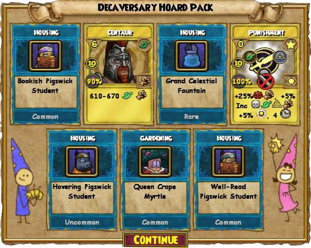 Wizard101 Decaversary Hoard Pack Review - Swordroll's Blog