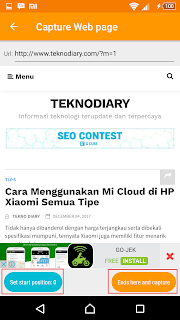 cara screenshot panjang di hp android