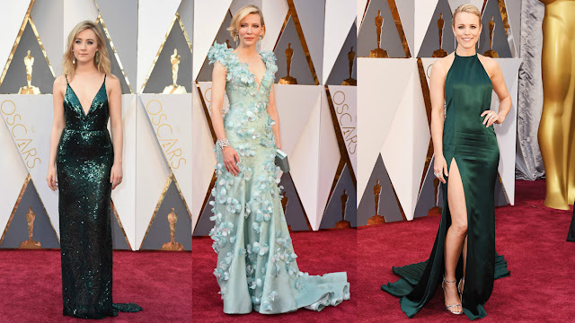 Saoirse Ronnan veste Calvin Klein Kate Blanchett veste Armani Privé Rachel Mac Adams