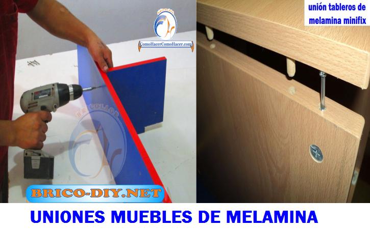 Tornillos autoperforantes y tornillos minifix uniones para for Manual para armar un mueble