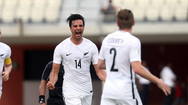 Rory Fallon con la selección de futbol de Nueva Zelanda