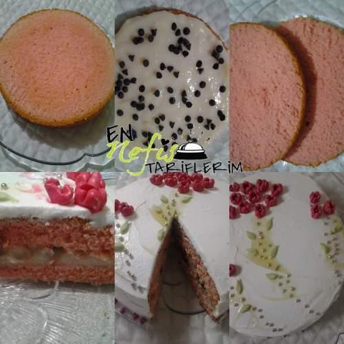 Çiçekli Yaş Pasta Nasıl Yapılır
