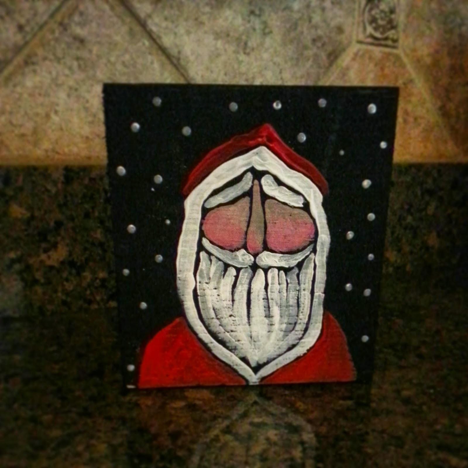 Fun DIY Santa Painting