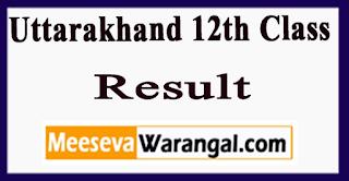 Uttarakhand 12th Class Result 2017