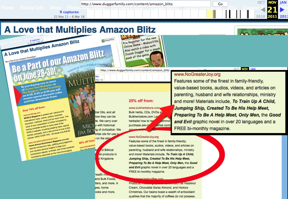http://web.archive.org/web/20111121185447/http://www.duggarfamily.com/content/amazon_blitz
