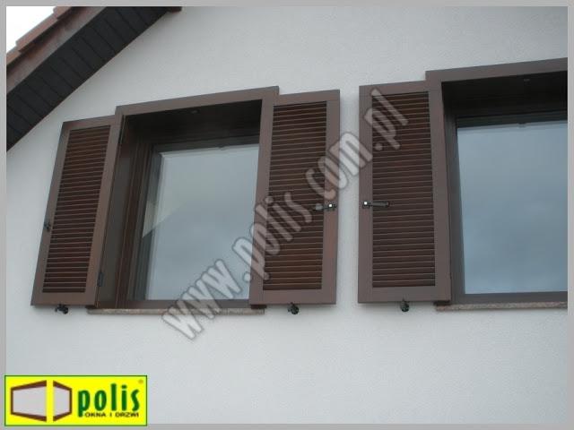 okiennice zewnętrzne drewniane, okiennice Warszawa, okiennice producent, okiennice z drewna,