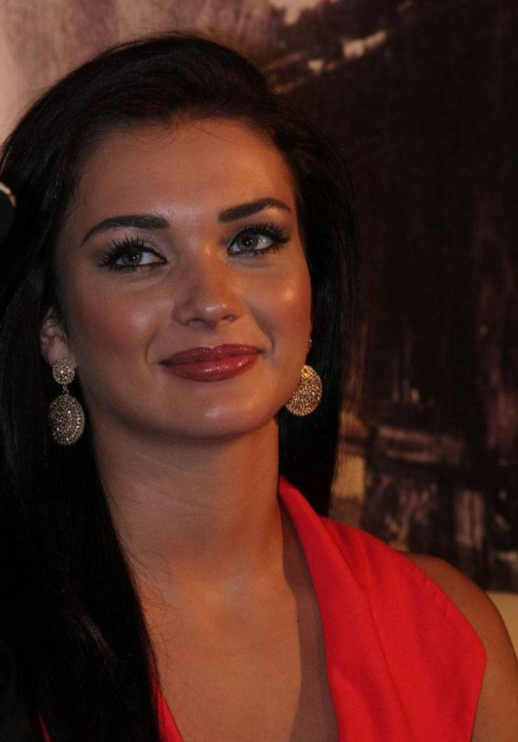 Amy Jackson Latest Photos In Red Dress