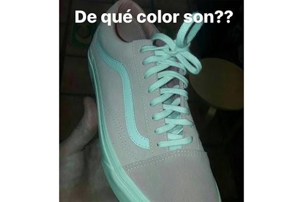 ¿De qué color lo ves? Aseguran, es rosa con blanco