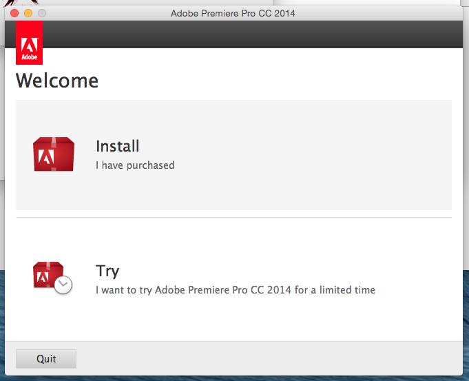 Install photoshop CC 2014 for MAC OS
