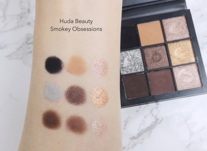 Huda Beauty Smokey Obsessions swatches