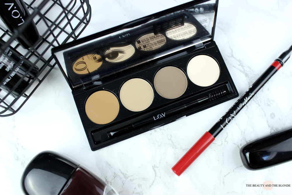 L.O.V Cosmetics, BROWttitude Eyebrow Contouring Palette, Blonde Attitude loc cosmetics review