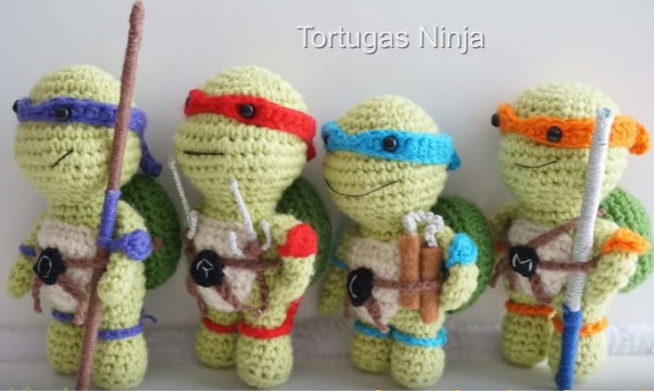 Häkelblog - Täglich neue Anleitungen: Ninja Turtles - Häkelanleitung