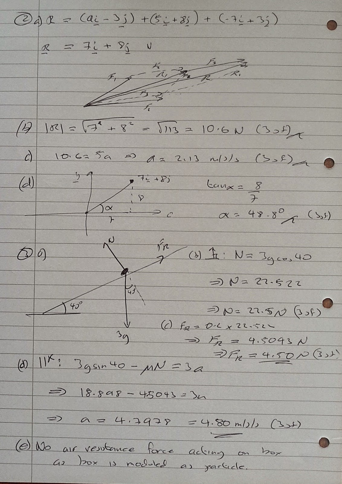 A Level Maths Notes: AQA Machanics 1 (MM1B) Winter 2013