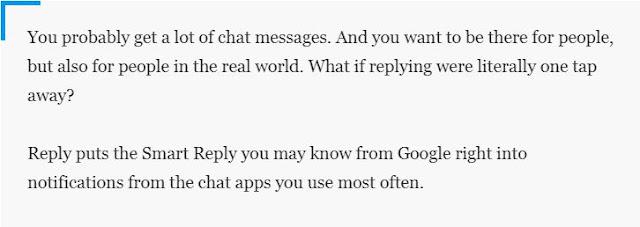 Pesan dari Google Reply