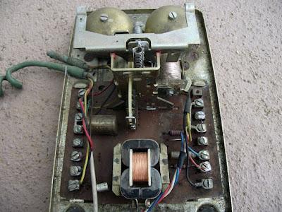 Telefone de disco - por dentro