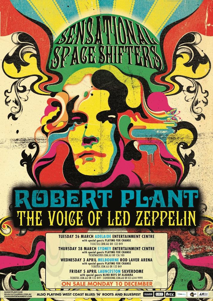 Set List Robert Plant Does Zeppelin Down Under Vvn Music