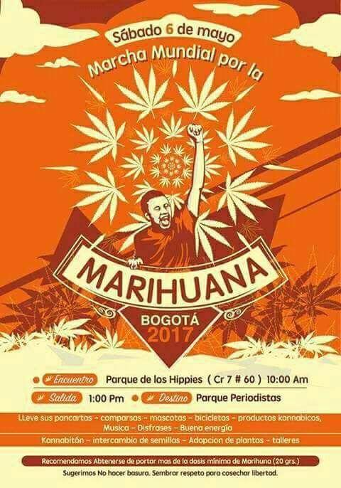 Marcha de la Marihuana en Bogota    6 Mayo 2017
