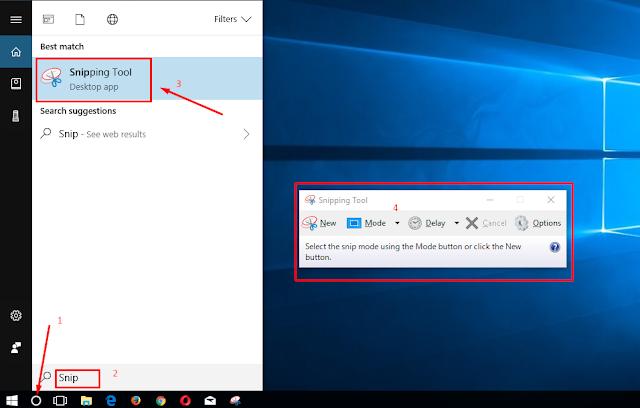 Bagaimana Cara Menggunakan Snipping Tool ScreanCaptur Windows 10