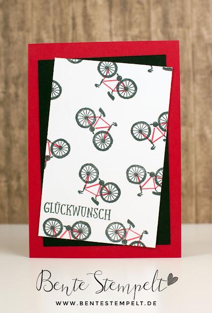 Stampin Up Baum der Freundschaft Sheltering Tree Bicycle Bike Fahrrad DIY Designerpapier selber machen Hintergrund stempeln