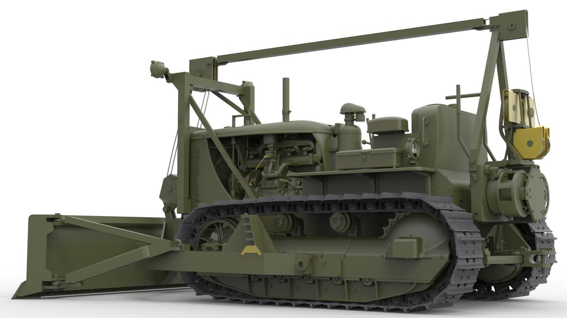 The Modelling News: MiniArt Push it with their new angled dozer