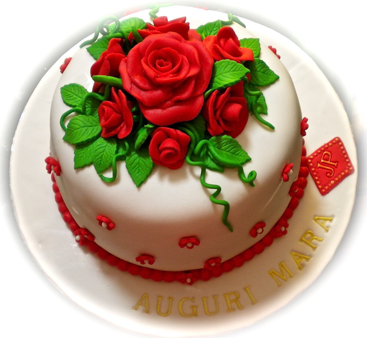 Amato LE TORTE DI PATRICIA: Torta di compleanno con rose rosse per Mara GK53