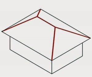 Nok Atap Baja Ringan Proyek Sipil Cara Mudah Menghitung Panjang Jurai Dan Bubungan