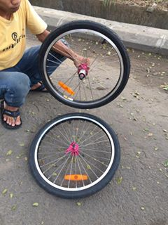 Wheelset Sepeda Lipat Folding Bike 20 inch Bearing Jangkrik