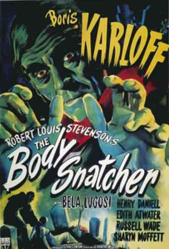 The Body Snatcher, cartel original de esta película dirigida por Robert Wise
