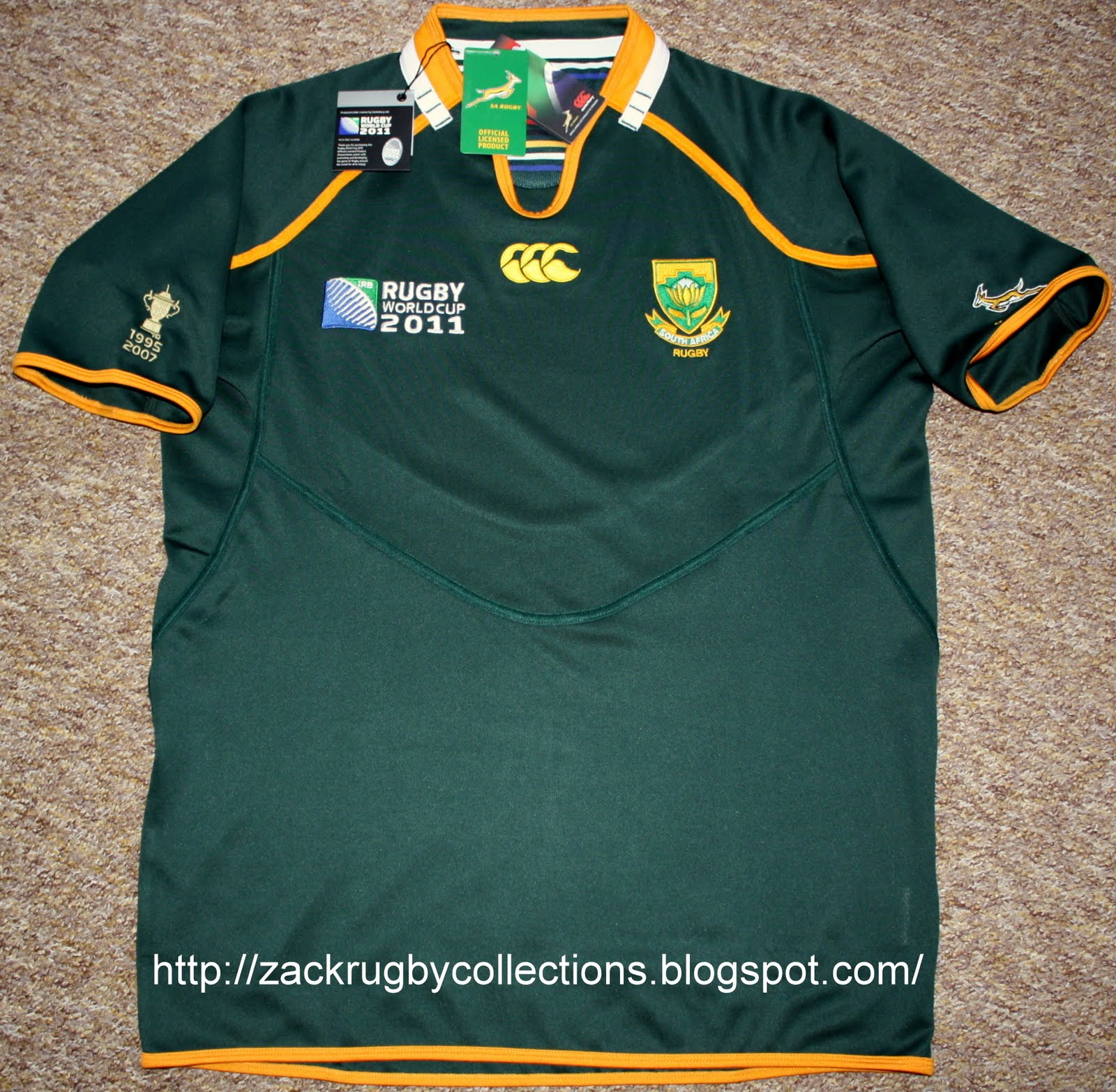 ZackRugby Collections®: South Africa SS Pro Home Rugby World