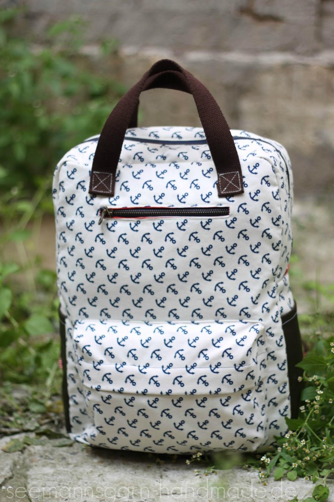 Anker-Rucksack, ahoi! • Vicky Backpack • Seemannsgarn - handmade