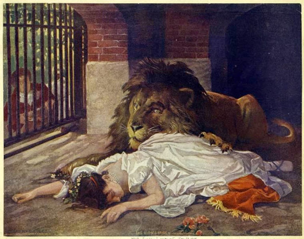 Gabriel Cornelius Ritter von Max, The Lion's Bride, Macabre Art, Macabre Paintings, Horror Paintings, Freak Art, Freak Paintings, Horror Picture, Terror Pictures