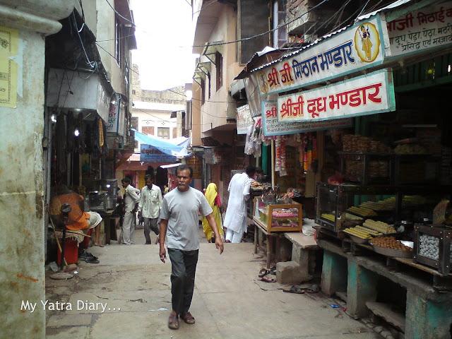 Peda Mishthan shops, Mathura