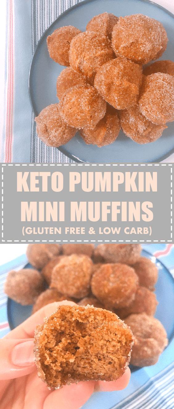 Keto Pumpkin Spice Almond Flour Muffin Minis