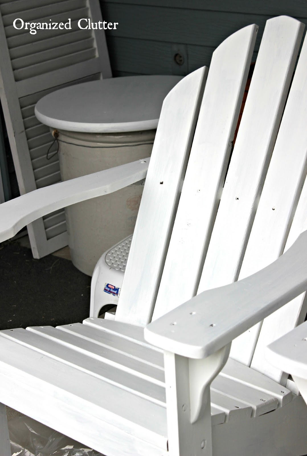 distressed adirondack chairs french country accent authentically chippy chair with