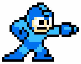 Megaman pixel blue bomber sprite nintendo