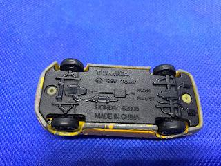 ホンダ S2000のおんぼろミニカーを底面から撮影