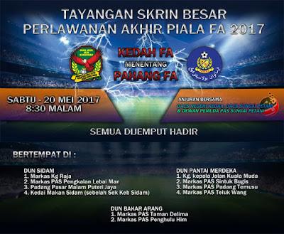 Live Streaming Pahang vs Kedah 20.5.2017 Piala FA, Kedah atau Pahang?