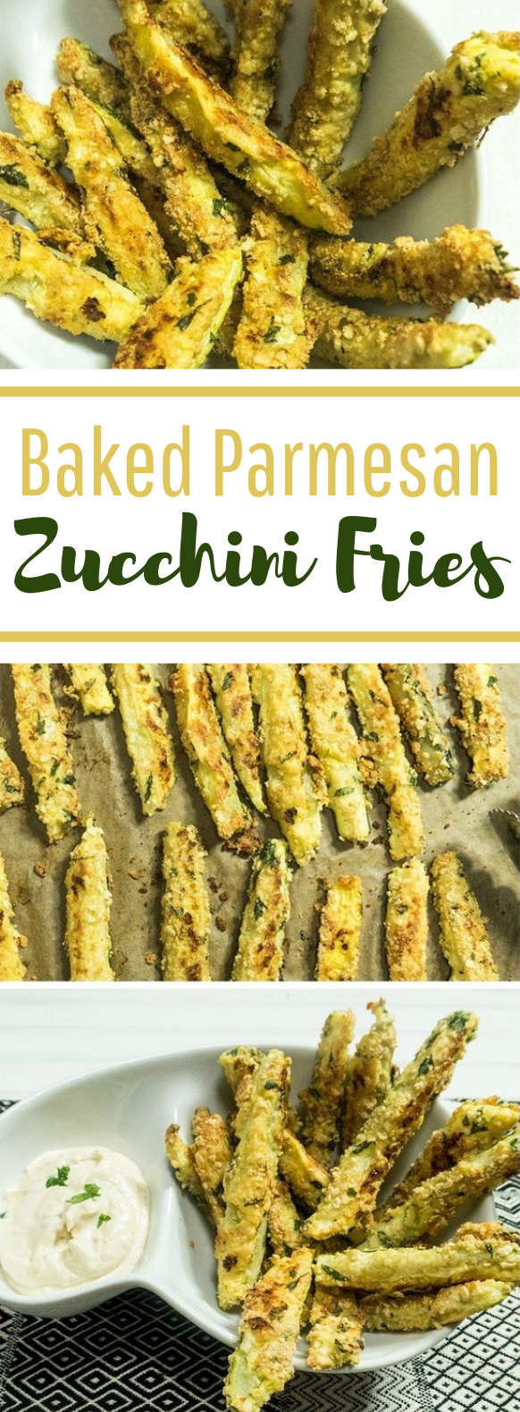 Baked Parmesan Zucchini Fries #vegansnack #lowcarb
