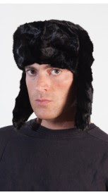 Mink fur hat for men - Russian style - Black