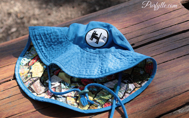 Sun Hat with colourful lining
