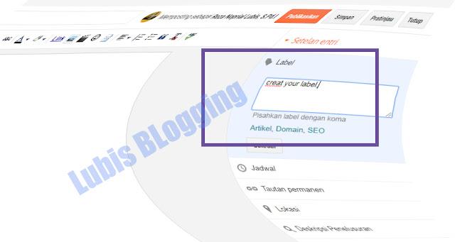 label di blogger