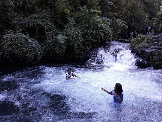 Kolam pemandian alami air terjun Telunjuk Raung