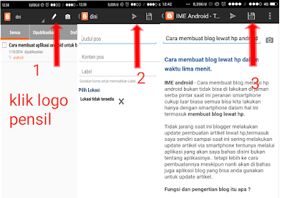 Aplikasi hp android menulis artikl